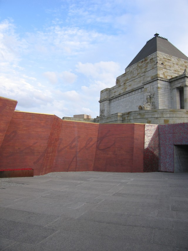 Red and Black Architect Shrine of Remembrance Melbourne