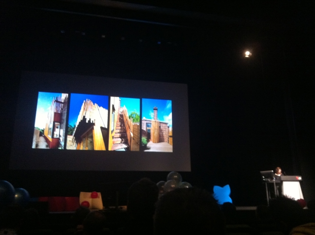 A Slide from Emma Young's presentation on the work and philosophy of her Melbourne based Architecture firm  PHOOEY