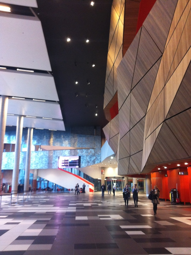 Inside the convention centre