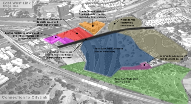 Some of the effects of the proposed tollway connection
