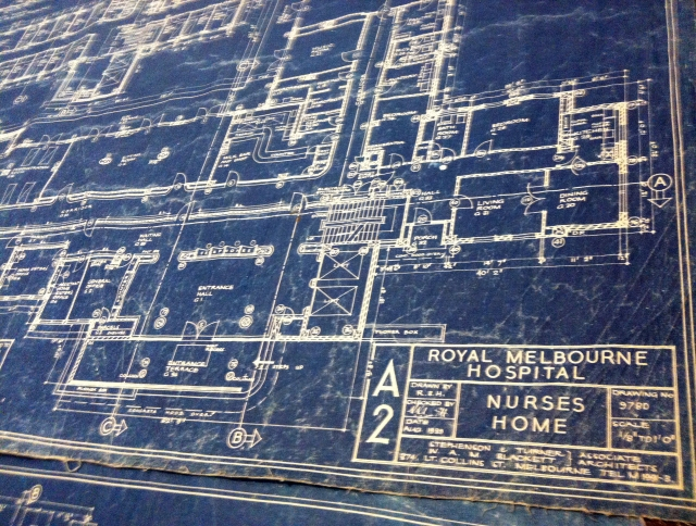 1939 Blueprints on display for the tour