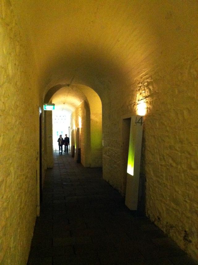 The gold vaults below