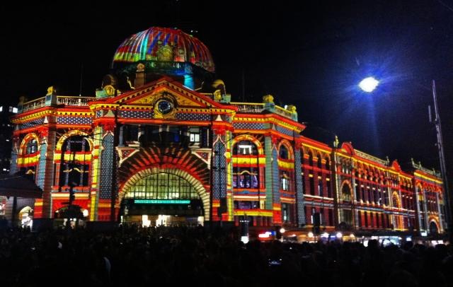 Flinders Street Station Illuminated