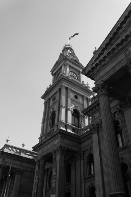 The neo classical Fitzroy Town hall
