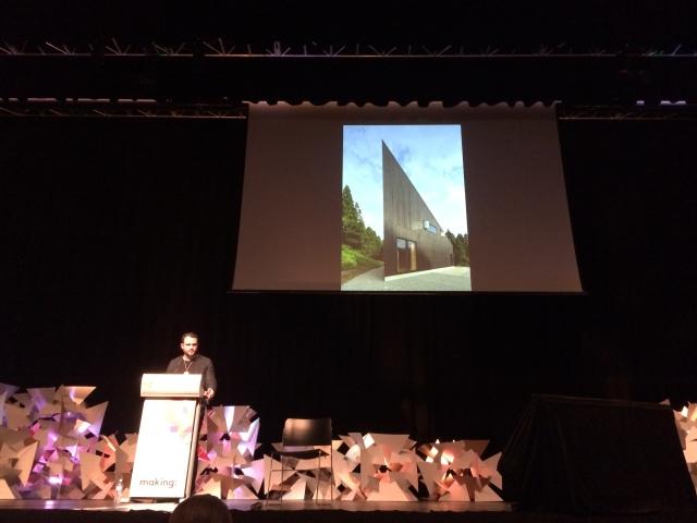 Andrew Burns presenting Australia House