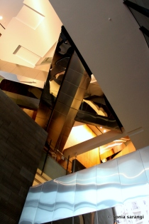 Foyer ceiling and Aero-Bridges