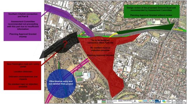 Planning status in Parkville
