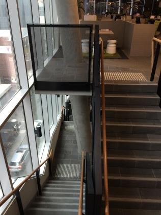The bluestone staircases reference Flinders lane below