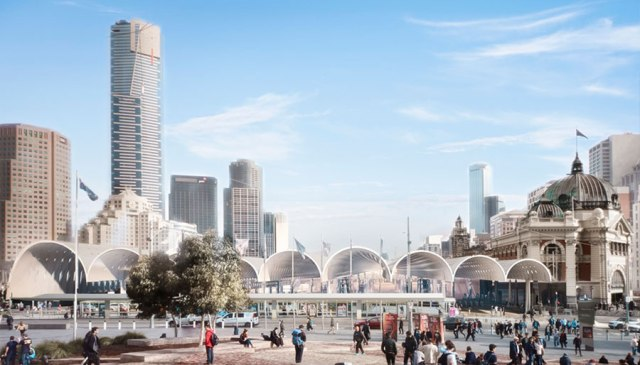 An Image from the winning design by Hassel and Herzog & De Meuron