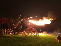 The Crucible, fire breathing dragon