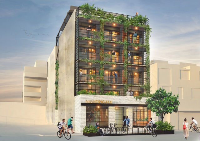 Proposed design of the Nightingale Apartments by Breathe Architecture