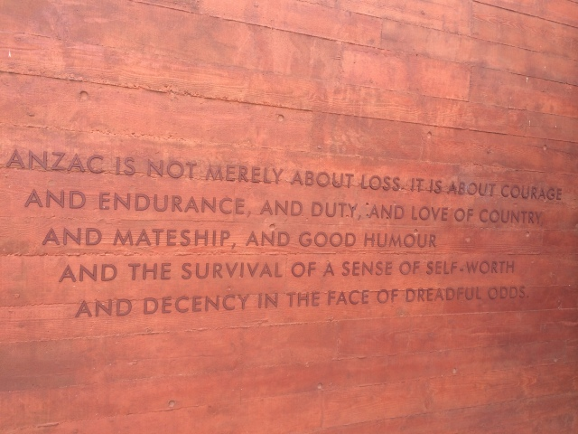 ANZAC Inscription