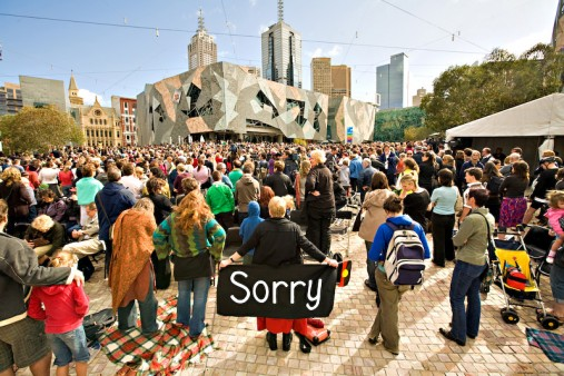 Image: Apology to the Stolen Generations 2008, Photo by David Simmonds