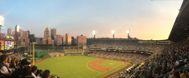PNC Park is positioned to maximize the outlook over the city skyline
