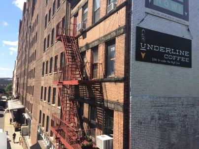 Iconic New York fire escape stairs
