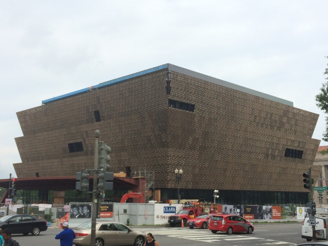 Smithsonian Museum of African American History and Culture by David Adjaye and FAB, nearing completion