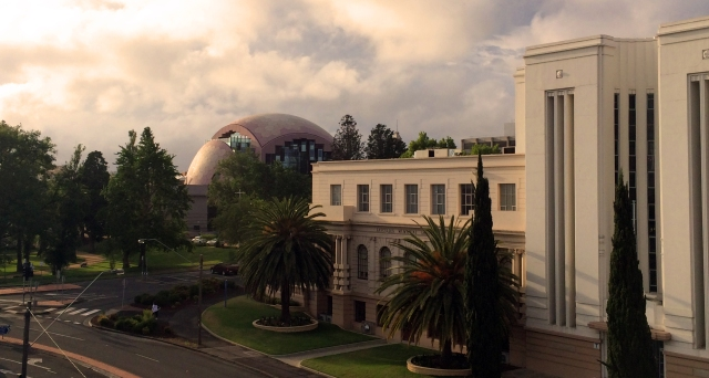 The library as seen from the Geelong Train Station