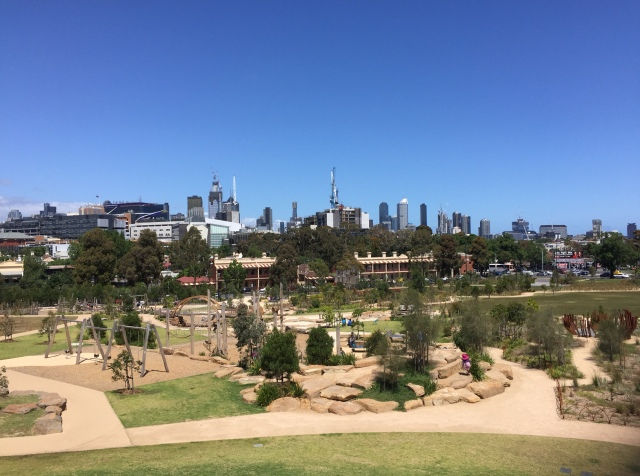 Return to Royal Park with skyline