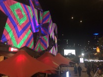 Federation Square lights 1