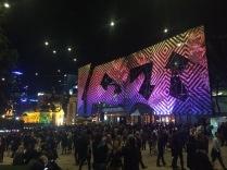 Federation Square lights 2