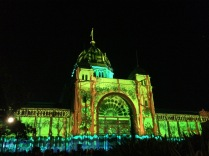 Royal Exhibition Building illuminated 2