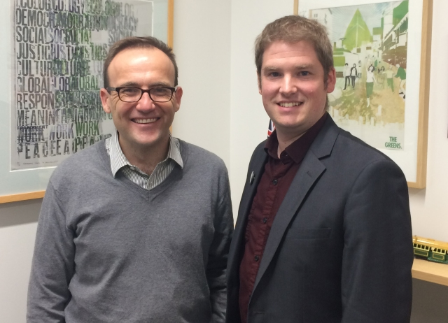 Adam Bandt and Michael Smith