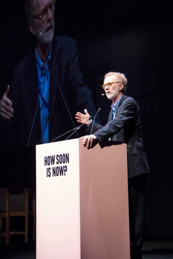 Thomas Fisher, speaking at How Soon is Now. (image courtesy of the Australian Institute of Architects)