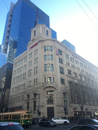 The Argus building on the corner of Elizabeth and Latrobe Streets