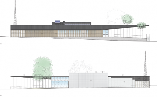 Marysville Police Station elevation. Kerstin Thompson Architects