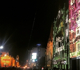 Flinders Street in party mode